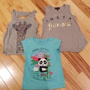 Gap 3 shirt lot, sz 8, EUC